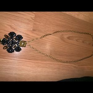 Black long (adjustable) jcrew necklace